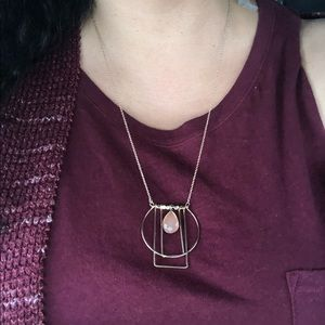 New Geometric Design Pendant And Necklace